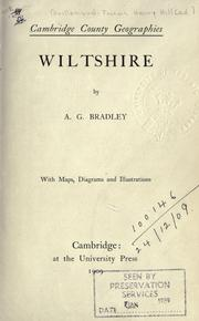 Cover of: Wiltshire