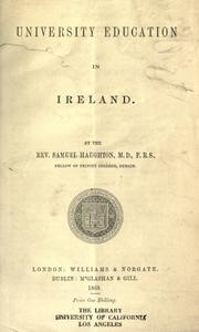 Cover of: University education in Ireland