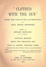 "Cover of: ""Clothed with the sun"" 
