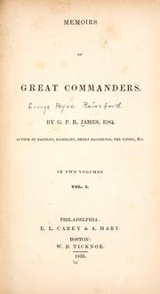 Cover of: Memoirs of great commanders