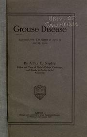 Cover of: Grouse disease ..