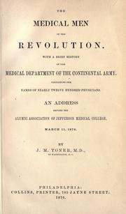 Cover of: The medical men of the revolution