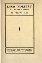 Cover of: Louis Norbert: a two-fold romance
