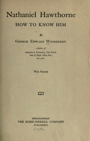 Cover of: Nathaniel Hawthorne, how to know him