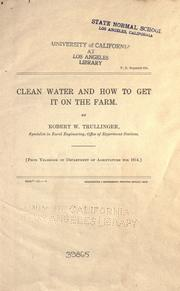 Cover of: Clean water and how to get it on the farm