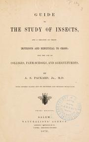 Cover of: Guide to the study of insects and a treatise on those injurious and beneficial to crops
