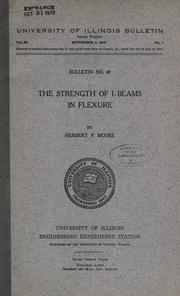 Cover of: The strength of I-beams in flexure