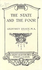Cover of: The state and the poor
