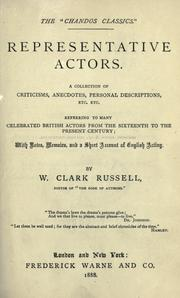 Representative actors by William Clark Russell