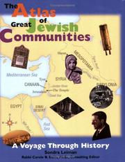Cover of: The atlas of great Jewish communities