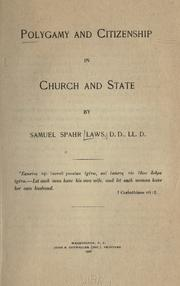 Cover of: Polygamy and citizenship in church and state