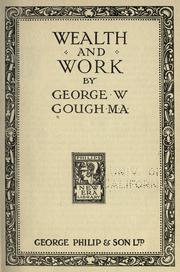 Cover of: Wealth and work