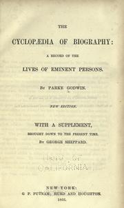 Cover of: Cyclopedia of biography