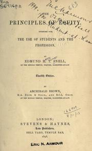 The principles of equity by Edmund Henry Turner Snell