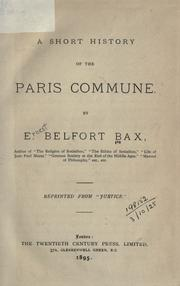 Cover of: A short history of the Paris Commune
