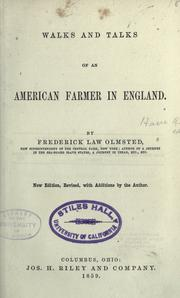 Cover of: Walks and talks of an American farmer in England