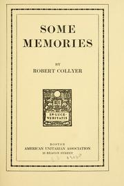 Cover of: Some memories