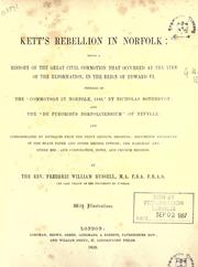 Cover of: Kett's rebellion in Norfolk