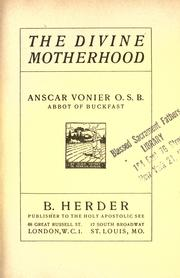 Cover of: The Divine Motherhood
