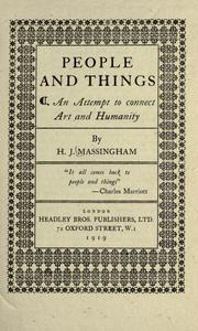 Cover of: People and things