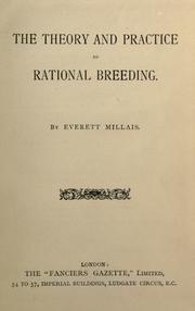 Cover of: The theory and practice of rational breeding