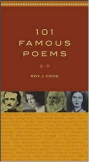 Cover of: 101 famous poems | [compiled by] Roy J. Cook.