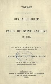 Cover of: Voyage in a six-oared skiff to the Falls of Saint Anthony in 1817