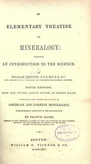 Cover of: An elementary treatise on mineralogy