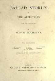 Cover of: Ballad stories of the affections