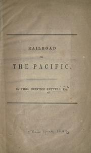 Cover of: Railroad to the Pacific