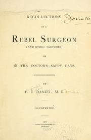 Cover of: Recollections of a Rebel surgeon