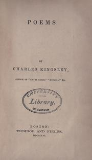 Poems by Charles Kingsley