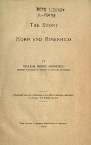 Cover of: The story of Horn and Rimenhild