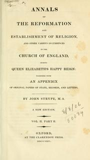 Cover of: Annals of the Reformation and establishment of religion