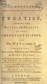 Self-knowledge by Mason, John