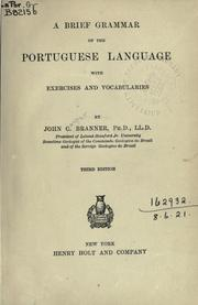 Cover of: A brief grammar of the Portuguese language