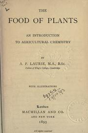 Cover of: The food of plants