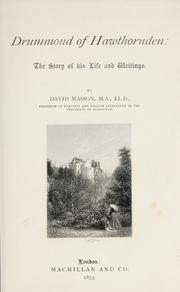 Cover of: Drummond of Hawthornden