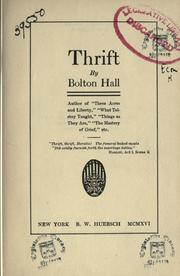Cover of: Thrift