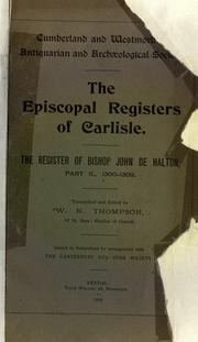 Cover of: The register of Bishop John de Halton