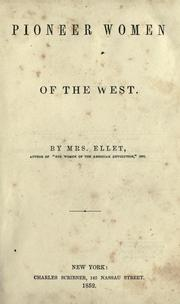 Cover of: The pioneer women of the West