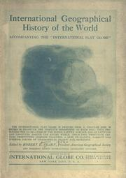 "Cover of: International geographical history of the world, accompanying the ""International flat globe"" .."