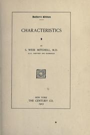 Cover of: Characteristics