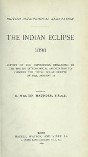 Cover of: The Indian eclipse, 1898