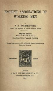 English associations of working men by Josef Maria Baernreither