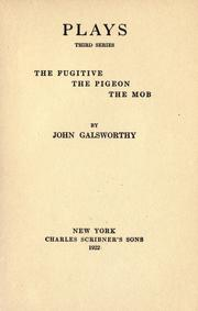 Cover of: Plays. by John Galsworthy