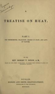 Cover of: A treatise on heat..