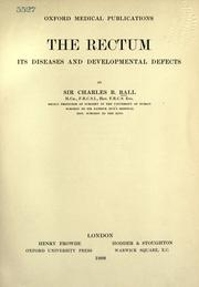 Cover of: The Rectum