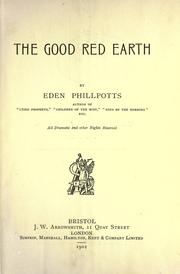 Cover of: The good red earth