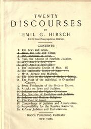 Cover of: Twenty discourses